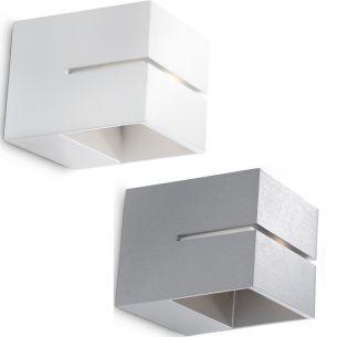 modern led wandleuchte lichtaustritt oben und unten aluminium 2 farben wohnlicht. Black Bedroom Furniture Sets. Home Design Ideas