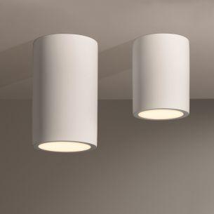 Zylinderförmige Keramik-Aufbauleuchte in 2 Größen erhältlich - für Energiesparleuchtmittel geeignet
