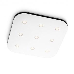 Moderne LED-Deckenleuchte - 9-flammig - Aluminium - Weiß