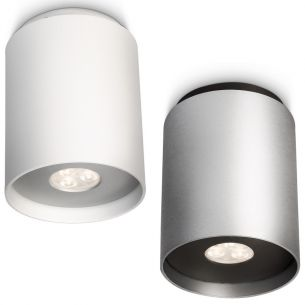 Runder LED-Decken-Spot - 1-flammig - Aluminium - 2 Farben