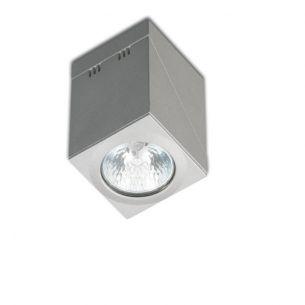 kantiger Strahler in Silber silber