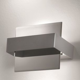 schwenkbare Wandleuchte, italienisches Design Chrom/Grau grau, Chrom