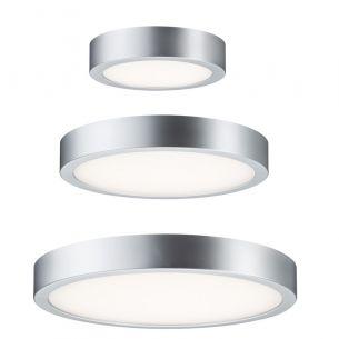 LED-Wand- oder Deckenleuchte Orbit, Chrom matt  Kunststoff