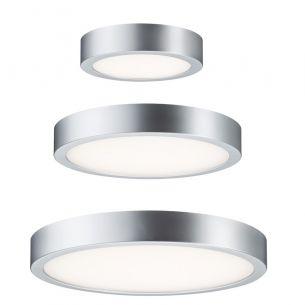 Schlichte LED-Wand- oder Deckenleuchte - Chrom matt - Kunststoff - 3 Größen