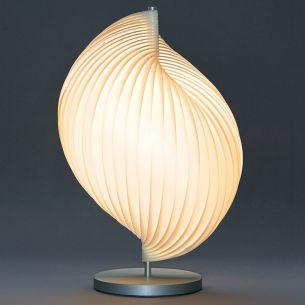 LA PERLE, dimmbare Tischlampe von TECNOLUMEN aus Plexiglaslamellen
