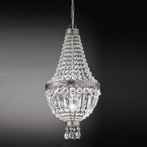 Kristall-Lüster in Nickel-glänzend Ø 30cm