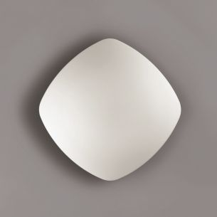 Schlichte Deckenleuchte mit Opalglas in 33,5 x 33,5cm 2x 75 Watt, 12,50 cm, 33,50 cm, 33,50 cm
