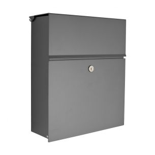 briefkasten mit integriertem zeitungsfach in grafit oder anthrazit wohnlicht. Black Bedroom Furniture Sets. Home Design Ideas