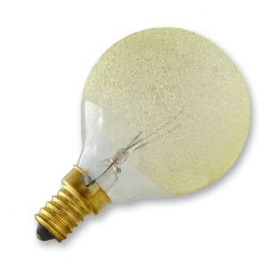 G60 Globe E14 Eiskristall bernstein 40 Watt 1x 40 Watt, 40 Watt, 335,0 Lumen
