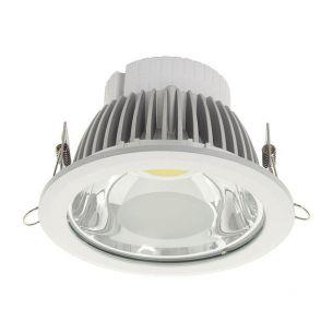 LED Downlight in Weiß, Aluminium und Glas