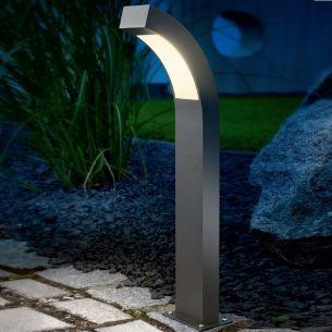 LED-Standleuchte, Aluminium anthrazit eloxiert, 40 LEDs, insgesamt 2,7 Watt, LED warmweiß, 2 Höhen wählbar