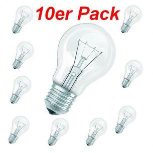 Glühlampe Classic E27 15W klar, A60 - im 10er Pack, stoßfeste Version 10x 15 Watt, 15 Watt, 90,0 Lumen