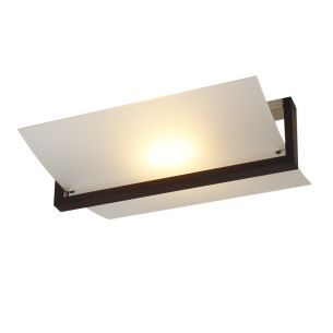 Elegante Deckenleuchte - Glas - Wenge-Holz Deckenlampe Beleuchtung Design modern