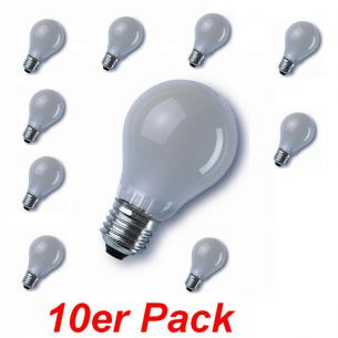 Glühlampe Classic E27 60W matt, A60 im 10er Pack, stoßfeste Version 1x 60 Watt, 60 Watt, 710,0 Lumen