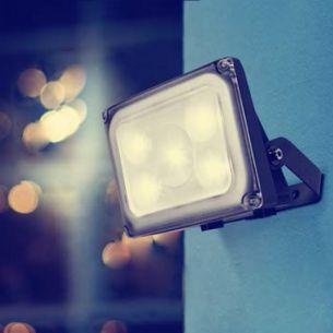 Design LED-Srahler, IP54, 5x2Watt, 4100K, Lichtfarbe neutralweiß, schwenkbar