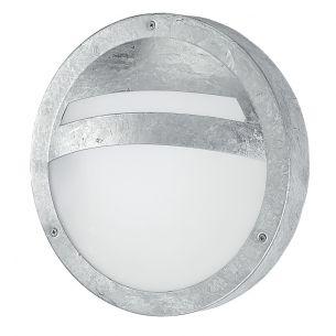 Runde Außenwandleuchte aus feuerverzinktem Stahl - für Energiesparlampen bis 15W geeignet