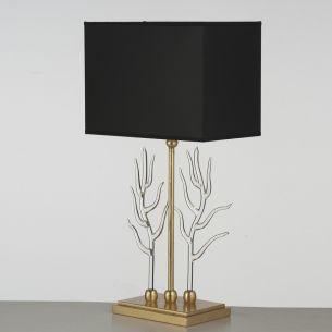 Einzigartige Handarbeit aus Italien - Hochwertige Tischleuchte - Blattgold - Textilschirm - Muranoglas