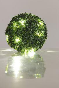 LED-Deko-Buchsbaum mit 15 LEDs,  20cm Durchmesser