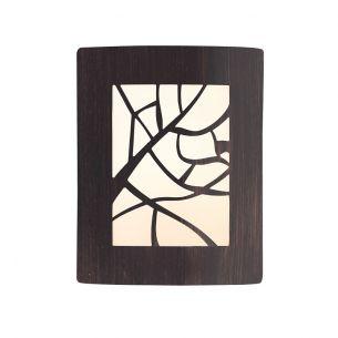 Dekorative Außenwandleuchte in rostfarben - 29 x 23 cm - IP 44 rost, A++ - E