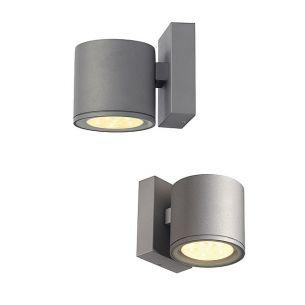 LED-Außenwandstrahler mit Lichtaustritt nach unten, LED-Lichtfarbe warmweiß, 3000K