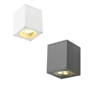 Up and Down-Wandleuchte mit gerichteter Lichtabgabe nach oben und unten, Leuchte in Weiß oder Silbergrau lieferbar