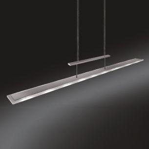 LED-Zugpendelleuchte mit eckigem, teilsatiniertem Glas, Länge 130cm 9x 3 Watt, 130,00 cm