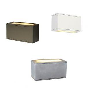 Up and Down Außenwandleuchte mit tollem Beleuchtungseffekt, Leuchte in Bronze, Alu oder Weiß lieferbar