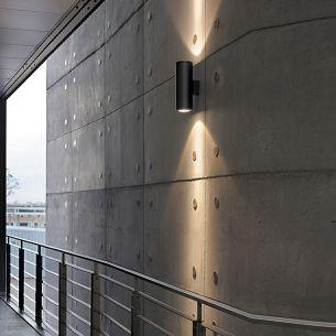 Stattlicher Up and Down Wandstrahler für den Außenbereich, Höhe 41cm, HI-EFFICIENT-PROFILIGHT, in Weiß oder Anthrazit wählbar