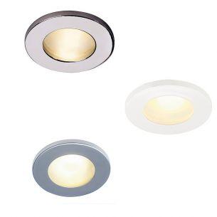 runde Deckeneinbauleuchte für Innen oder Außen geeignet, IP44, in 4 Oberflächenfarben lieferbar