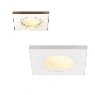 Quadratische Deckeneinbauleuchte für Innen oder Außen geeignet, IP44, in 4 Oberflächenfarben lieferbar