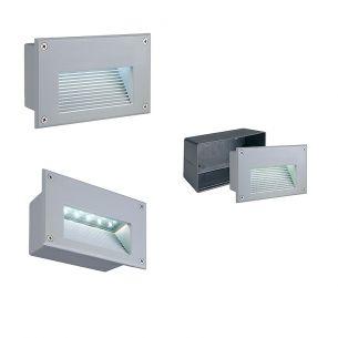 LED-Wandeinbauleuchte für Innen oder Außen geeignet, IP54, LEDs in weiß oder warmweiß wählbar