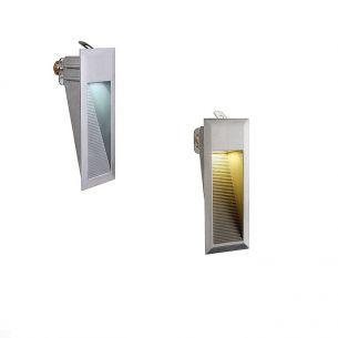 LED-Einbauleuchte in Aluminium, mit LEDs in weiß oder warmweiß, IP44