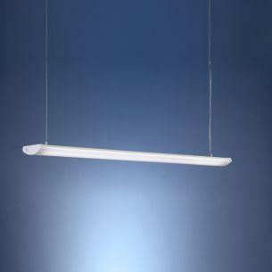 Dezente Büroleuchte in 120cm Länge - pulverbeschichtet in Weiß - für Leuchtstoffröhren geeignet 2x 54 Watt, 120,00 cm