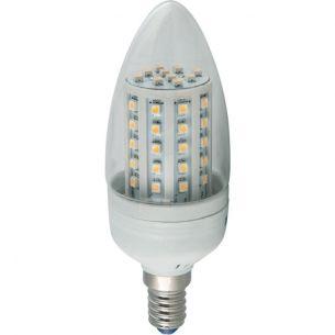 LED Leuchtmittel Heitronic C35 Kerze 3 Watt  klar 240 Lumen klarer Glaskolben Epistar