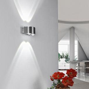 LED-Aluminium-Wandleuchte IP 54 in & outdoor 4x 1W LED 210 Lumen 6000 Kelvin