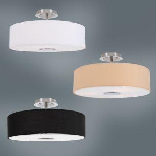 deckenleuchten deckenlampen mit stoffschirm wohnlicht. Black Bedroom Furniture Sets. Home Design Ideas