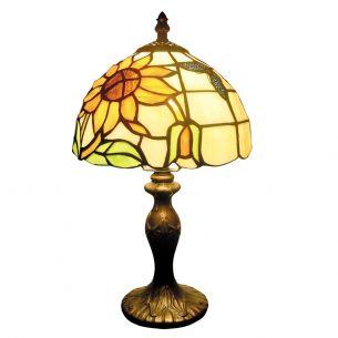 Traumhafte Tiffany-Tischleuchte mit dekorativen Gläsern im Patchwork-Look