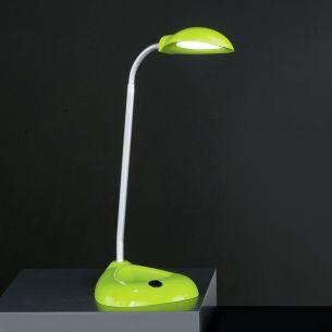 Flex-Schreibtischleuchte, 1x3Watt Power-LED, Chrom / Grün grün