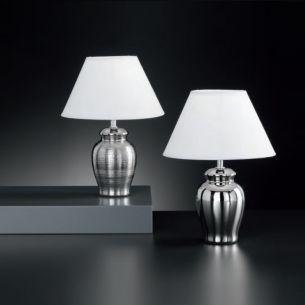 runde Keramik-Vasenleuchte in moderner Optik, Höhe 30cm, Ø 23cm