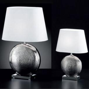 runde Keramik-Tischleuchte in eleganter Optik, zwei Ausführungen wählbar