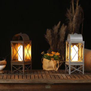 Laterne in Kerzenoptik für den Innen- und Außenbereich - zwei Farbausführungen