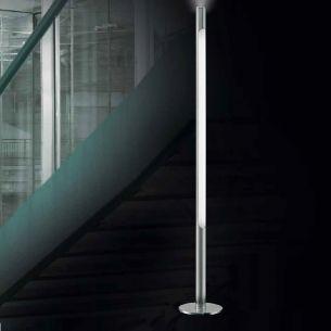 Dimmbare LED-Stehleuchte inklusive T5 54W  und 1x LED 7W Leuchtmittel mit Touchdimmer