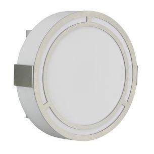 LED-Außenwandleuchte aus Edelstahl und Opalglas - Durchmesser 25cm - inklusive 10W LED warmweiß - IP44