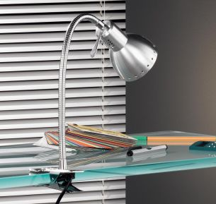 Klemmleuchte - Aluminium/Chrom