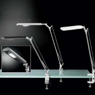 LED-Klemmleuchte mit verstellbarem Reflektor in zwei Farben wählbar, maximale Höhe bis 60cm