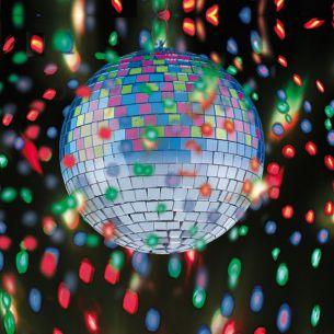 Party-Events: Batteriebetriebene LED-Diskokugel mit Farbwechsel-Lichteffekten