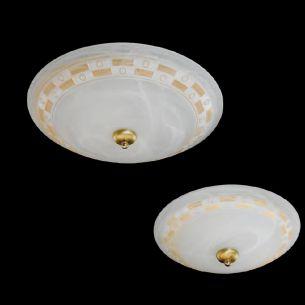 Deckenleuchte, in zwei Größen verfügbar, Dekorglas mit Alabaster-Optik