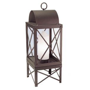 Laterne in Kerzenoptik für den Innen- und Außenbereich - braun 1x 60 Watt, braun