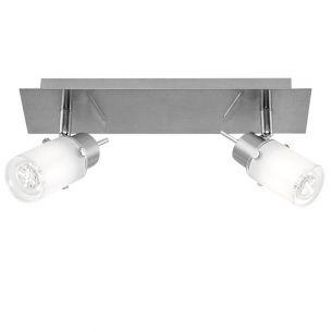 LED Strahlerserie - 2-flammiger Wand- oder Deckenspot - Inklusive LED-Leuchtmittel + LED Taschenlampe