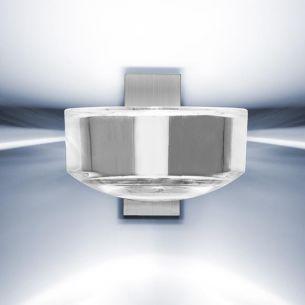 Wandleuchte Lena - Nickel matt/Bleikristall - Inklusive Leuchtmittel
